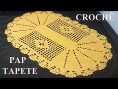 Jogo de cozinha em crochê:Tapetinho Parte 1 - YouTube