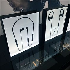 Beats Backlit Earbud Display Frames Dre Headphones, Store Fixtures, Merchandising Displays, Flip Clock, Beats, Frames, Target, Frame
