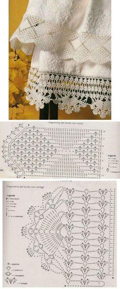 Beautiful lace to crochet: Tra