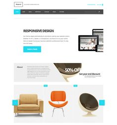 This interior design and furniture WordPress theme features a responsive layout, unlimited colors, WPML, bbPress, and WooCommerce compatibility, a clean design, custom widgets, a landing page template, and more.