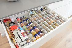 Ikea verdeler voor kruidenpotjes - Uit Pauline's keuken