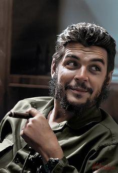 by Elliott Erwitt / Che Guevara, Havana, 1964 (photo colorisée)