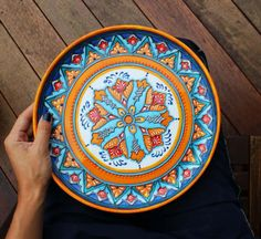 Decorative plate Hand painted plate for hanging. Wall plate. Ceramic plate. Gift for her. Gift for any occasion Wall decor : ceramic plates to paint - pezcame.com