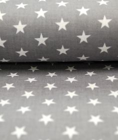 Popeline grau weiß kleine Sterne 0,5m