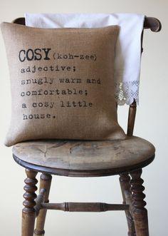 cosy printed cushion