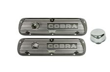 Ford Performance Black Aluminum Valve Covers Cobra Logo 289/302/351W