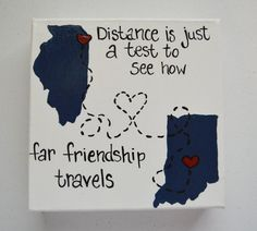 Best Friend Canvas Friendship Long By GretasHandmadeGifts Diy Gifts For Friends Crafts