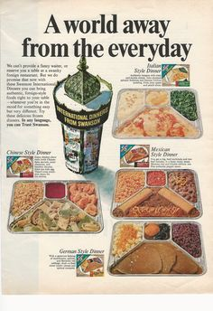 AD: Swanson International TV Dinners from 1967