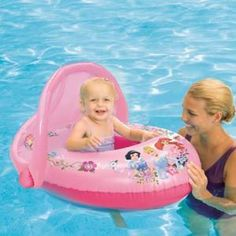 Disney Princess Sun Canopy Baby Float from SwimWays.  sc 1 st  Pinterest & SwimWays Sun Canopy Baby Boat comes in bright colors babies love ...