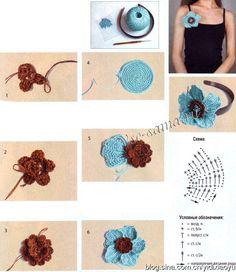 精美的钩织装饰花,有教程