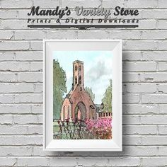 Pen and Wash Watercolour Venice Italy by MandysVarietyStore