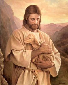 Jesus Christ will come again, so is written in the Holy Bible. Christians believe that Jesus is their Savior. Jesus' words means Savior. Images Du Christ, Pictures Of Jesus Christ, Jesus Pics, Lord Is My Shepherd, The Good Shepherd, Jesus Shepherd, Arte Lds, Image Jesus, Première Communion