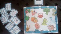 Encore un atelier inspiré par Mme Andréa. Il s'agit d'un loto de lecture à jouer de 1 à 6. Il y a 4 niveaux en fonction des couleurs Montessori. Rose : mots simples consonne/voyelle, voyelle/consonne Bleu : mots simples consonne/consonne/voyelle Vert...