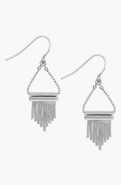 Sam Edelman Fringe Drop Earrings available at #Nordstrom