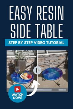 Easy step by step video tutorial of how to make a resin table for your outdoor living area. How to make a resin table on a budget. Black Buffet, Speckled Eggs, Wash Stand, Sugar Scrub Recipe, Wooden Sofa, Unique Plants, Hotel Decor, Resin Table, Diy Outdoor Furniture