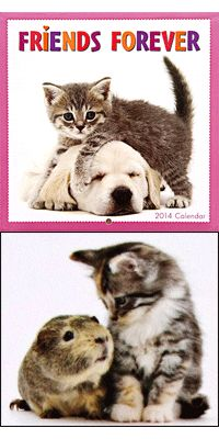 Friends Forever 2014 Mini Calendar at The Animal Rescue Site