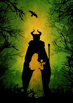 Malificent | 28 Minimalist Posters For Your Disney-Themed Nursery
