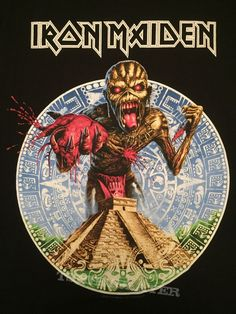 Discover recipes, home ideas, style inspiration and other ideas to try. Heavy Metal Art, Heavy Metal Bands, Iron Maiden Band, Eddie Iron Maiden, Iron Maiden Albums, Iron Maiden Posters, Rock Band Posters, Pochette Album, Metal Albums