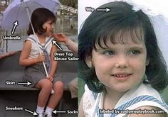 Cute cosplay idea: Darla + Alfalfa from Little Rascals! Full guide for all characters here: http://costumeplaybook.com/movies/1510-little-rascals-90s/