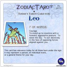 Zodiac Tarot for June 11: Leo <br>  http://ifate.com