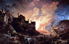 The ironworks at Coalbrookdale at night, 1801