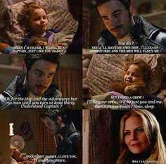 Captain Swan & daughter.  Cute