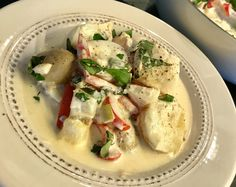 Fish Recipes, Cake Recipes, Good Food, Yummy Food, Recipe Boards, Health And Wellbeing, Potato Salad, Nom Nom, Main Dishes