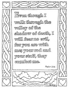 coloring pages for kids by mr adron printable coloring page psalm 23