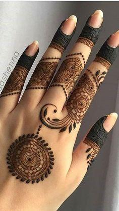 Modern Henna Designs, Henna Tattoo Designs Simple, Finger Henna Designs, Full Hand Mehndi Designs, Henna Art Designs, Mehndi Designs For Beginners, Mehndi Designs For Girls, Mehndi Designs For Fingers, Beautiful Henna Designs