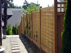 cedar fences lattice custom