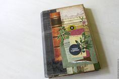Купить Эко блокнот для записей - мятный, блокнот, блокнот рукодельницы, блокнот ручной работы