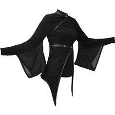 Vodabox Kimono Shrug Wrap w/ leather look Trim Polo Neck