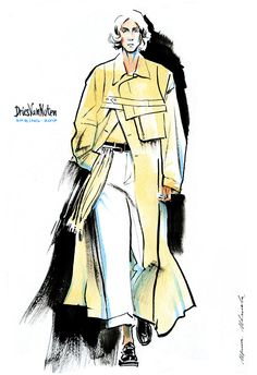 fashion illustration by Irina Ivanova: Dries Van Noten SPRING 2017 READY-TO-WEAR men collection. #runway #DriesVanNoten #fashionillustration #illustration #fashionsketch #sketch #fashion #model #figure #365sketches #drawing #ink #watercolor #accessory #fashionshow #shoes #clothes #dress #Couture #fashionweek #fashionillustrator #наброски #мода #artwork #artworkforsale
