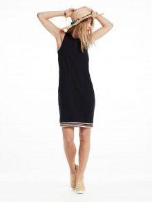Scotch&Soda tmavě modré sporty šaty s barevným pruhem - 2690 Kč Scotch Soda, Shirt Dress, Sporty, Black, Dresses, Fashion, Sodas, Maison Scotch, Woman Clothing