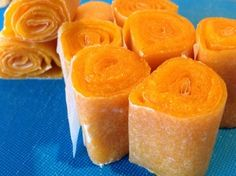 Make your own fruit rolls! Gotta try this with mangos