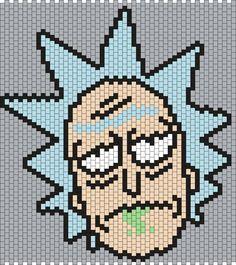 Rick from Rick and Morty (Multi/Brick Stitch Pattern)