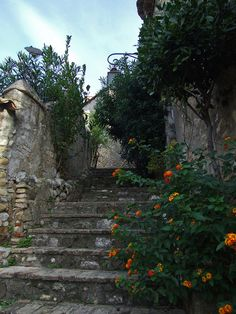 Stairs in Cagnes-sur-Mer, France
