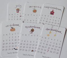 Printable Calendar 2013 Mini Doodle Desk by lemonadepaperie, $7.00