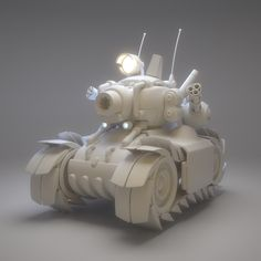 Metal Slug Tank - WIP, Nando Carmona on ArtStation at https://www.artstation.com/artwork/6drv5
