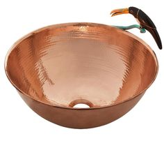 Lovely nature-inspired Avem copper sink by Thompson Traders