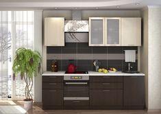 Korpus je z lamina vo farbe wenge s 3D štruktúrou dreva. Hrany sú opatrené ABS. Dvierka sú vyrobené z kvalitnej MDF dosky vo farbe dub mliečny. Kovové úchytky. Valencia, Kitchen Cabinets, Home Decor, Interiors, Kitchens, Decoration Home, Room Decor, Cabinets, Home Interior Design