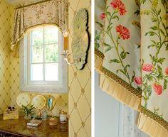 The Enchanted Home: Designer Spotlight: Linda Floyd Interiors Bathroom Window Treatments, Custom Window Treatments, Enchanted Home, Drapes Curtains, Curtain Valances, Large Curtains, Passementerie, Window Styles, Curtain Designs