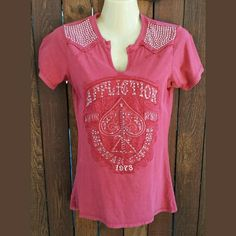 ✴AFFLICTION WOMEN'S SHIRT✴ ✴Worn 1x ✴Washed 1x ✴Excellent condition/ like new ✴Size Small✴❤✌ AFFLICTION  Tops Tees - Short Sleeve