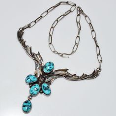 Vintage Annabelle Peterson Navajo Indian Sterling & Turquoise Necklace