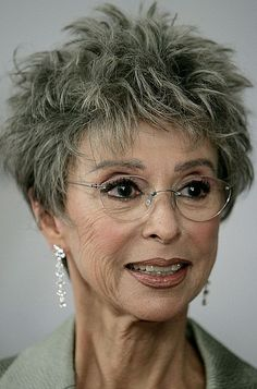 Rita Moreno, 82 years old Rita Moreno, Short Spiky Hairstyles, Hairstyles With Glasses, George Chakiris, Gray Hair Growing Out, Aged To Perfection, Aging Gracefully, Anti Aging Skin Care, Hair Today