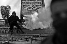 Protesta estudiantil en Santiago de Chile.