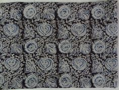 Floral Kalamkari Indian floral block print fabric by indianstores