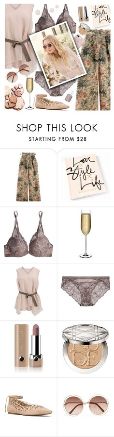 """Floral Pants"" by pomy22 ❤ liked on Polyvore featuring Zimmermann, Calvin Klein Underwear, Nude, Brunello Cucinelli, Marc Jacobs, Jimmy Choo, Christian Dior, MICHAEL Michael Kors, Chloé and floral"
