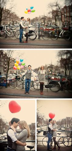 Engagement Photos at the canals of Amsterdam!