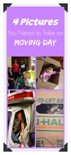 Capture the perfect moment during your #movingday by getting one of these 4 pictures!